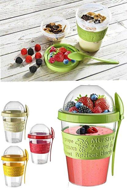 Kitchen Life Take'n Go Kapaklı Kaşıklı Hazırla Ve Çık Meyveli Yoğurt Kabı