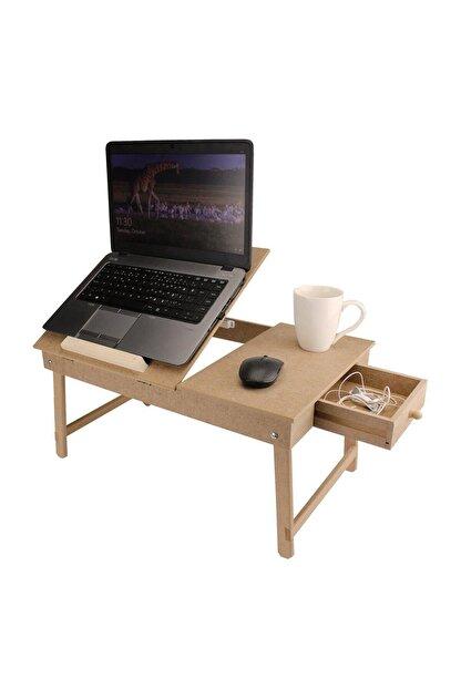 Okutan Hobi Ham Ahşap Ayarlanabilir Laptop Sehpası