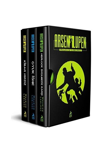 Ren Yayınları Arsen Lupen Seti 3 Kitap Orjinal Kutulu(karton Kapak) Set Kibar Hırsız Oyuk Iğne Maurice Leblanc
