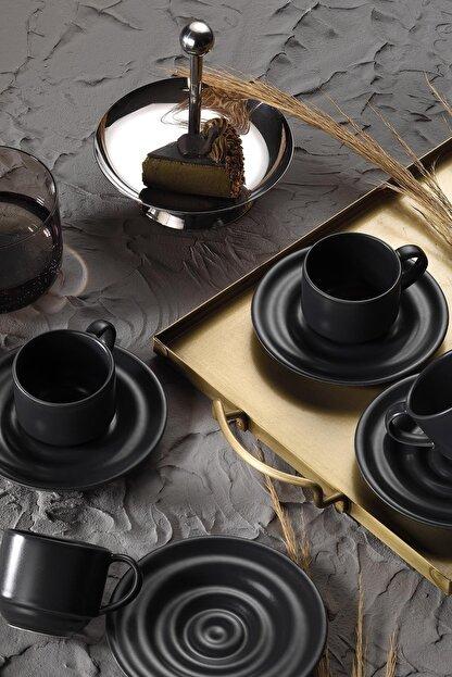 Kütahya Porselen New Tuvana Kahve Takımı Antrasit