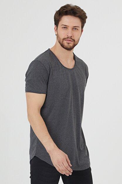 Tarz Cool Erkek Füme Pis Yaka Salaş T-shirt-tcps001r27