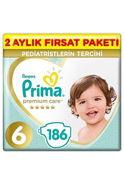 Prima Bebek Bezi Premium Care 6 Beden 186 Adet 2 Aylık Fırsat Paketi