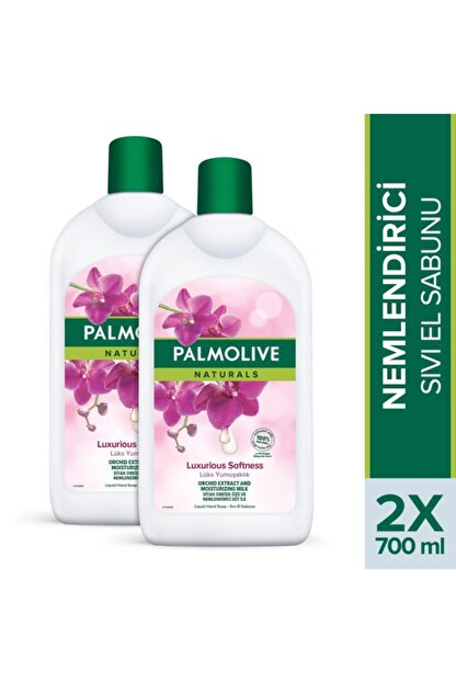 Palmolive Naturals Siyah Orkide Ipeksi Yumuşaklık Nemlendirici Sıvı El Sabunu 2 X 700 Ml