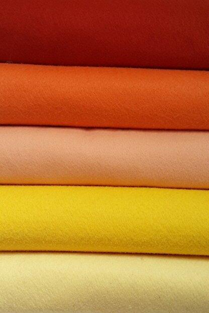 ByOzras Sarılı Tonlar Ince Keçe - 5 Renk - 50x50 Cm - Hobi Malzemesi