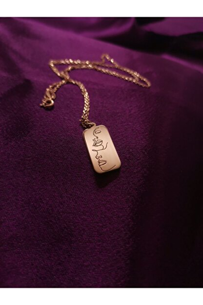 Ineffable Jewerly Silüet Kolye Rose Gold Kaplama 925 Ayar Gümüş Kolye