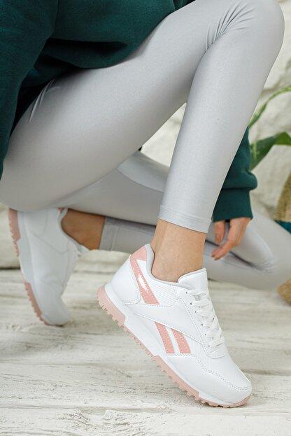 Moda Değirmeni Unisex Beyaz Pudra Sneaker Ayakkabı Md1053-101-0001