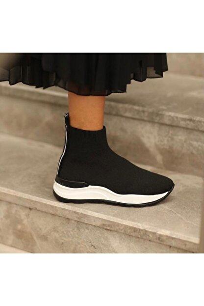 Meya Ayakkabı & Çanta Kadın Siyah Triko Bot