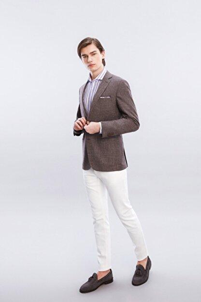 W Collection Erkek Mürdüm Jakarlı Ceket