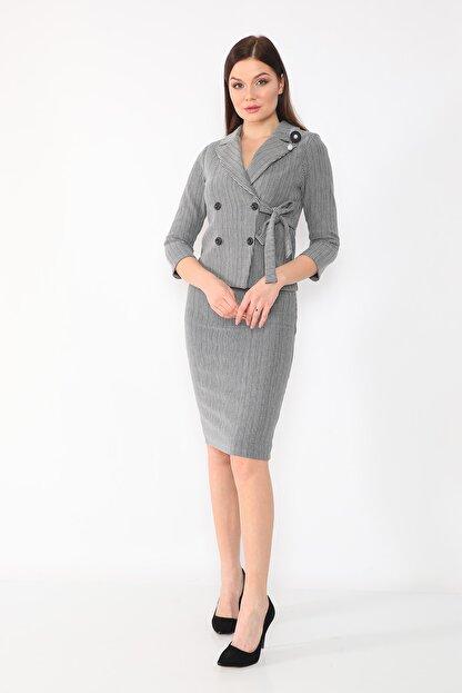 etselements Kadın Gri Takım Elbise