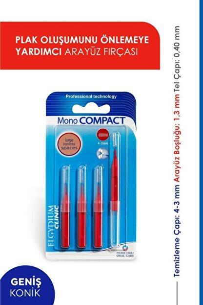 Oral Care Elgydium Clinic Monocompact Kırmızı Arayüz Fırçası 0,40 Mm