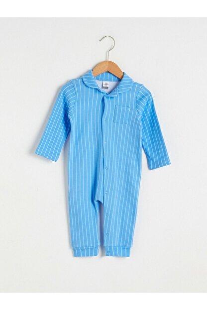LC Waikiki Erkek Bebek Mavi Çizgili Tulum