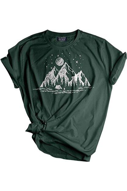 GENIUS Store Unisex Baskılı Tshirt Outdoor Slim/fit Tişört
