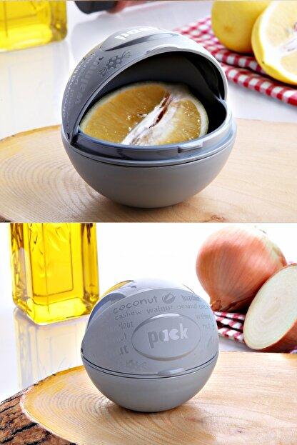 Kitchen Life 3'lü Çok Amaçlı Sürgü Kapaklı Soğanlık Limonluk Çerezlik -asorti
