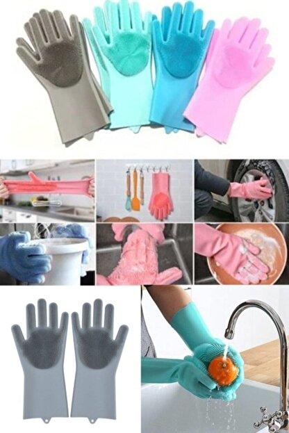 İndirimKap Magic Gloves Sihirli Bulaşık Eldiveni Mutfak Banyo Temizleme Fırçası Oto Ev Iş Pratik