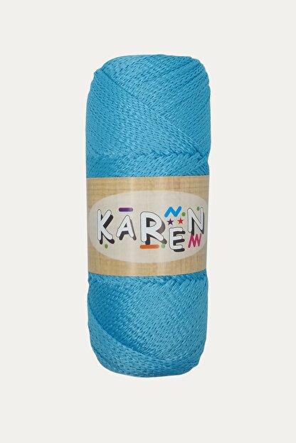 Karen Hobi Boncuk Mavi Polyester Makrome