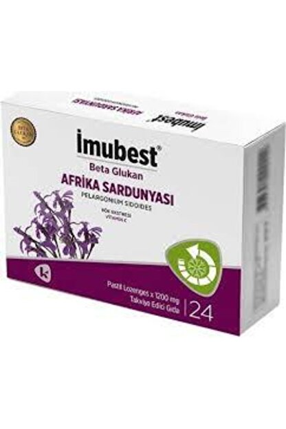 İmubest Beta Glukan Pelargonium Sidoides - Afrika Sardunyası Pastil 24'lü (sambucol Muadili)