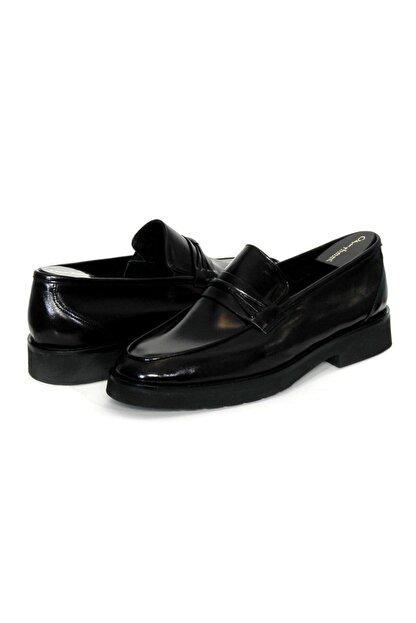 Oğuzhan Ayakkabı Erkek Siyah  Yumuşak Ayakkabı %100 El Yapımı Sidney Serisi