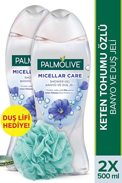 Palmolive Micellar Care Keten Tohumu Özlü Micellar Su Ile Banyo Ve Duş Jeli 2x500ml+ Duş Lifi Hediye
