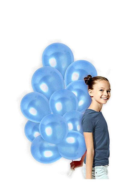 Magic Hobby Mavi Renk Metalik Balon 50 Adet ( 50'li Paket)