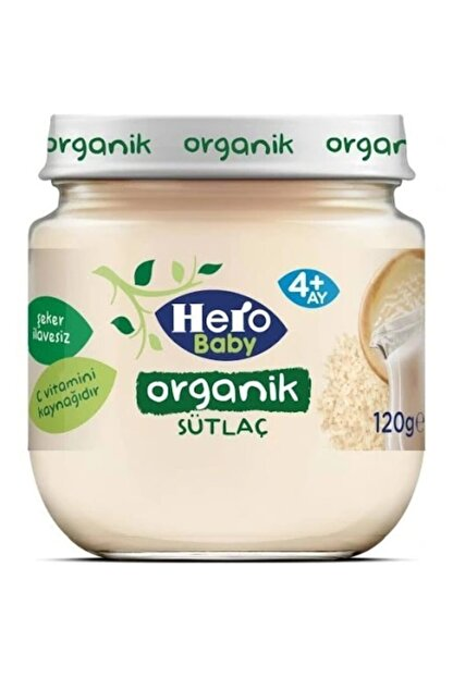 Hero Baby Organik Sütlaç 120 gr x 6 Adet
