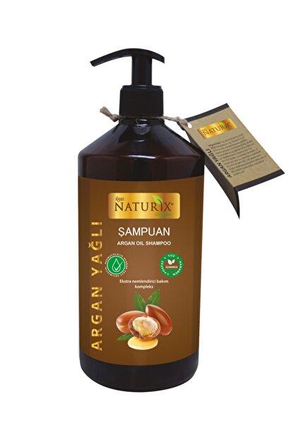 Naturix Onarıcı Bakım Tuzsuz Argan Yağlı 600 ml Bakım Şampuanı Argan Şampuanı ( Paraben Fosfat Tuz Içermez )