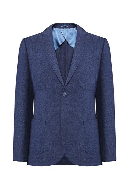 W Collection Erkek Mavi Flanel Air Ceket