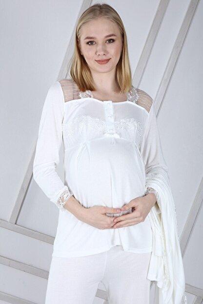 Duchesse Lohusa Sabahlıklı Pijama Takımı 1002