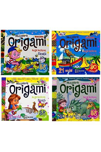 Karton Bardak Hikayelerle Origami Kağıt Katlama Sanatı 4 Lü Set