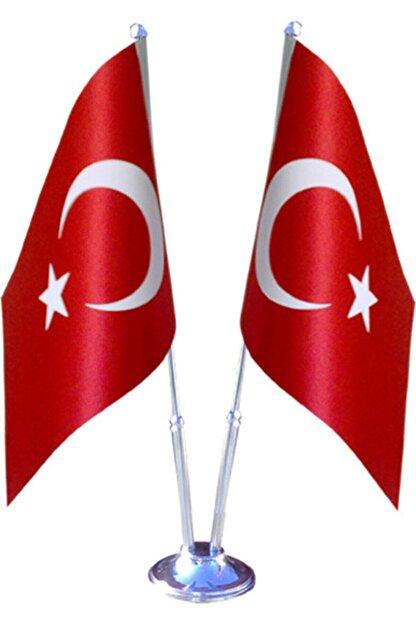 SÜPERKUTUMATBAA Çiftli Türk Masa Bayrağı