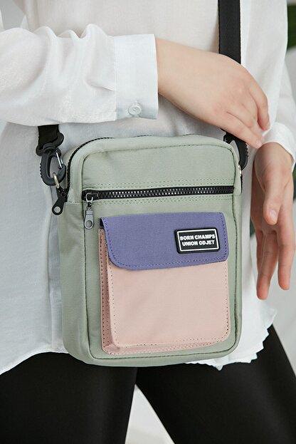 CuCu Bag's Unisex Yeşil Üç Gözlü Cross Bag Çanta Cc2113-1