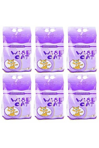 Wise Cat Diatomit Iri Taneli Süper Emici Kedi Kumu 7 lt x 6 Adet