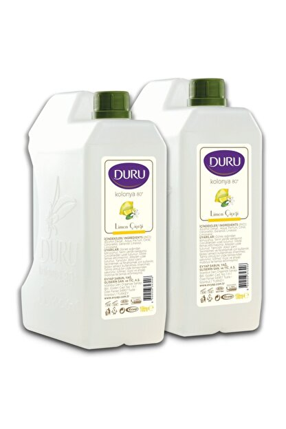 Duru Limon Kolonyası %80 1 Lt (2 Adet)
