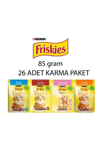 Friskies Kedi Konserve Maması 85 gr x 26 Adet Karma Paket