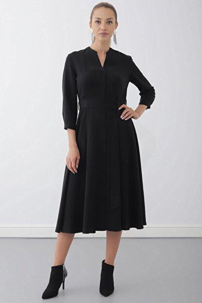 Journey Elbise-dik Yaka, Ön Tüm Düğme, Truvakar Kol Gömlek