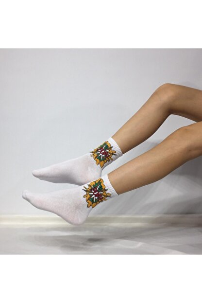 Adel Unisex Penye POP Desenli Kolej Çorabı