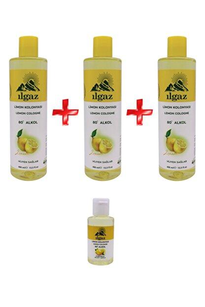 ILGAZ Klasik Limon Kolonyası 3 X 400 ml + 50 ml Çanta Boy