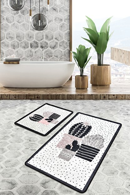 Chilai Home Three Cactus Djt 2 Li Set Banyo Paspası