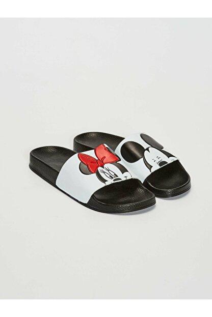LC Waikiki Minnie Mouse Kadın Beyaz J5E Terlik