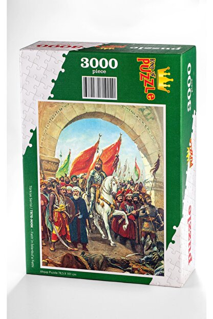 King Of Puzzle Fatih'in Istanbul'u Fethi Ahşap Puzzle 3000 Parça