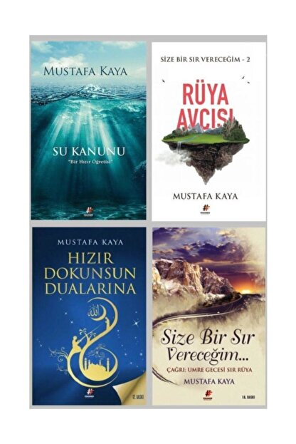 Fenomen Kitap Mustafa Kaya Seti 4 Kitap Hızır Dokunsun  Su Kanunu Size Bir Sır