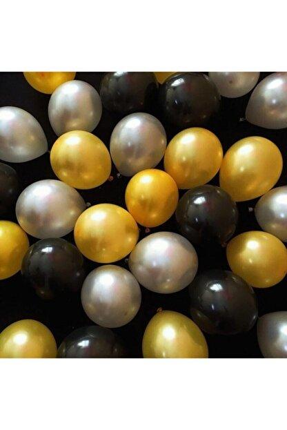 Topyekünparti 30 Adet. Gümüş,altın,siyah Metalik Sedefli Balon