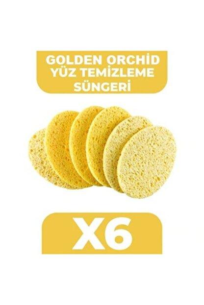 Golden Orchid Yüz Temizleme Süngeri 6 Adet Sarı