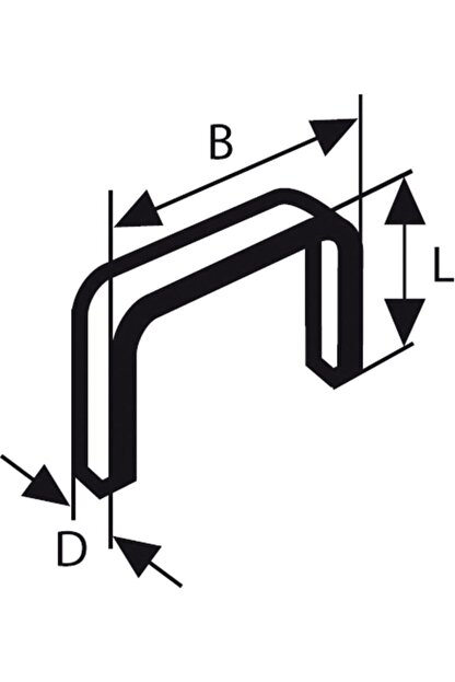 Bosch Zımba Teli Tip 53 11,4*0,74*14 Mm