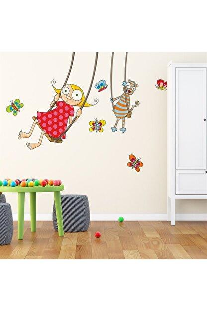 KT Decor Neşeli Salıncak Çocuk Odası Sticker