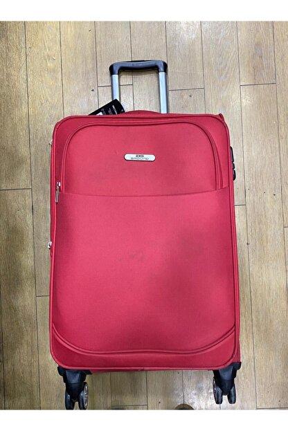 GROUND Orta Boy Kırmızı Hafif 4 Tekerlekli Kumaş Valiz