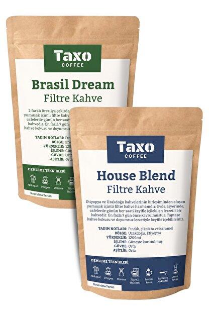Taxo Coffee Taxo House Ve Brasil Blend Filtre Kahve 2x500gr (Öğütülmüş)