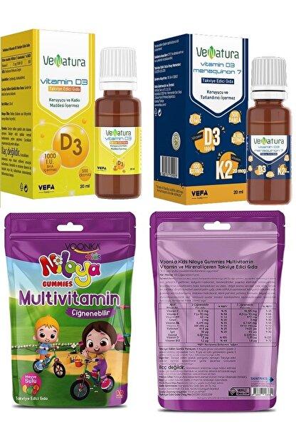 Venatura D3 Damla (1000 Iu)20 Ml+vitamin D3k2 Damla 20 Ml+niloya Multivitamin 60 Çiğneme