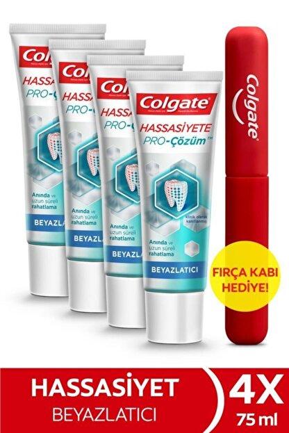 Colgate Hassasiyete Pro Çözüm Beyazlatıcı Pro Relief Diş Macunu 4x 75 ml + Diş Fırçası Kabı