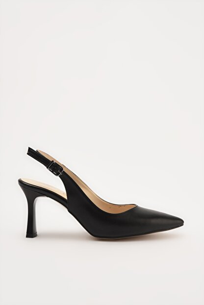 Hotiç Siyah Kadın Klasik Topuklu Ayakkabı 01AYH214420A100