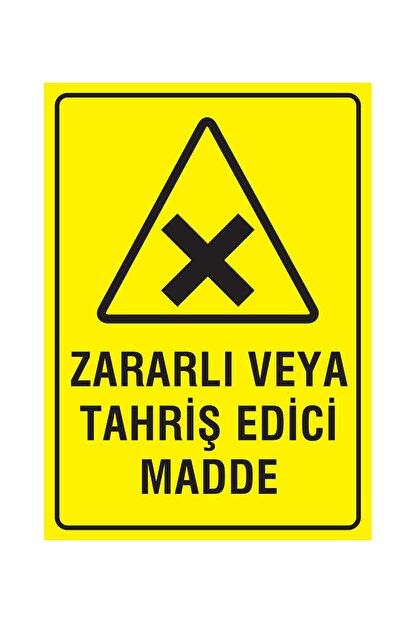 Printhome Dikkat Zararlı Veya Tahriş Edici Madde 50x70 Cm. Folyo / Etiket